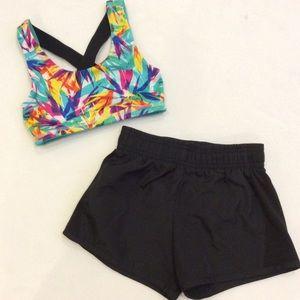 Avia athletic shorts & sports bra
